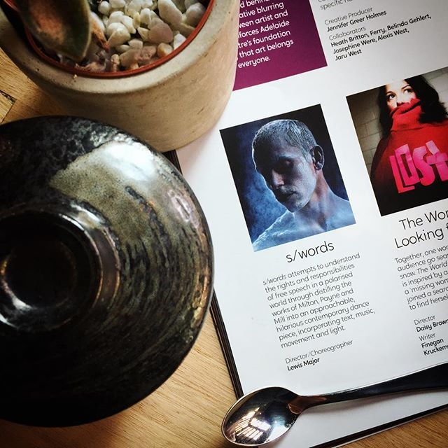 "Spotted in the @adelaidefescent 2019 mag, Director/Choreographer @majorle and artist @neverwonderdownonyourknees with "" s/words "", examining free speech through dance. If you've never seen contemporary dance before, now's a great time to try #adelaide @saindependentdance #inSPACE #contemporarydance #art #ichoosesa"