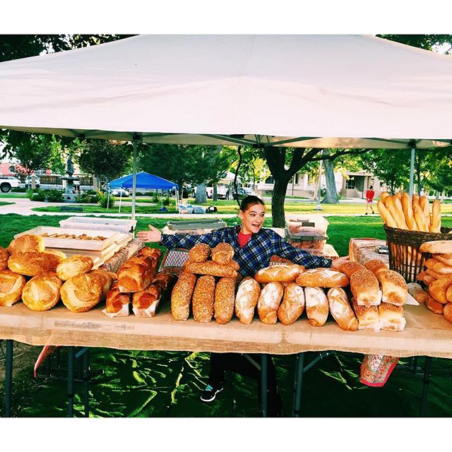 Have you made it down to the Growers Market yet? Be sure to stop by the La Quiche tent and grab some bread if you do! #laquicheparisiennebistro #albuquerque #albuquerquegrowersmarket #bread #baking #supportlocalbusiness
