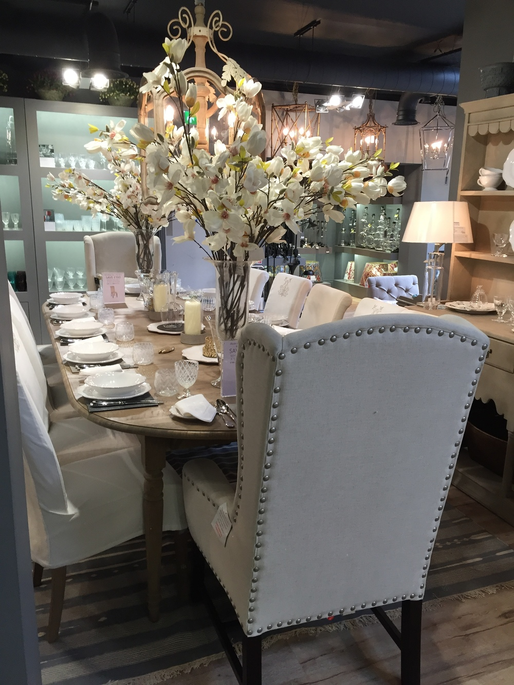 Luxury Brand: A Day Out with OKA Interior Design House: Dining Room with Table & Chairs