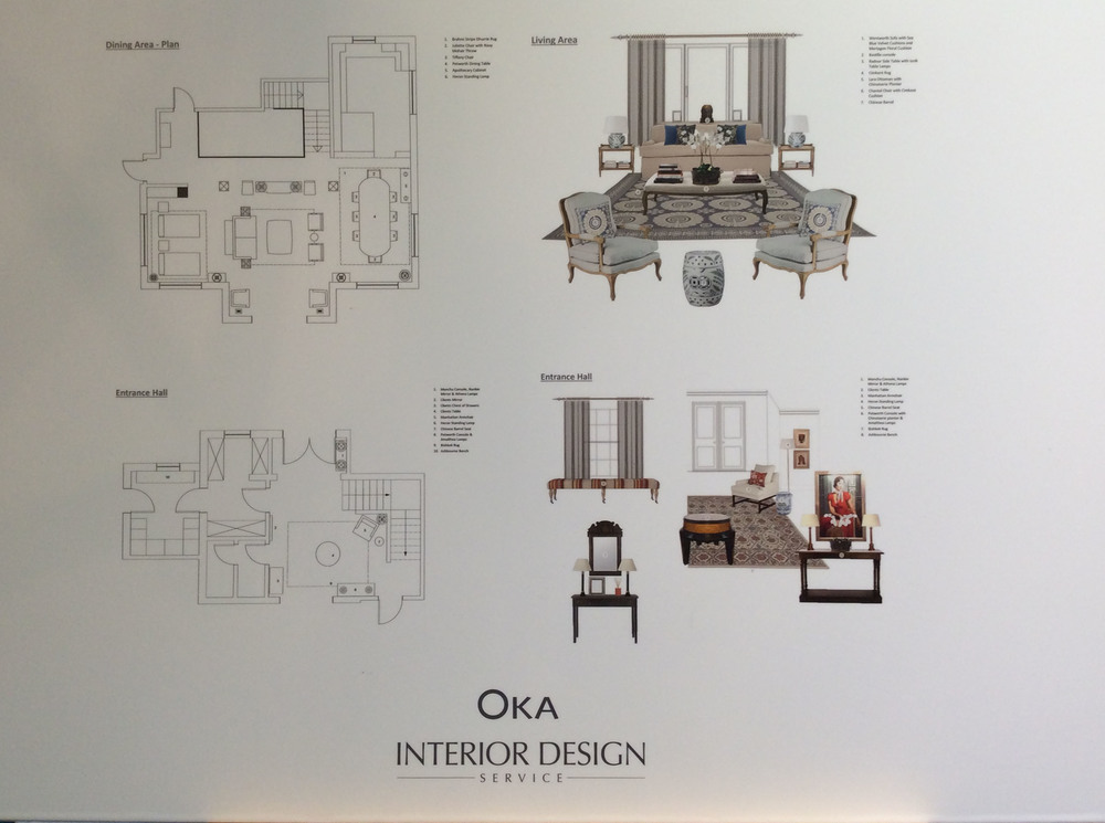 Luxury Brand: A Day Out with OKA Interior Design House: Design & Concept Boards