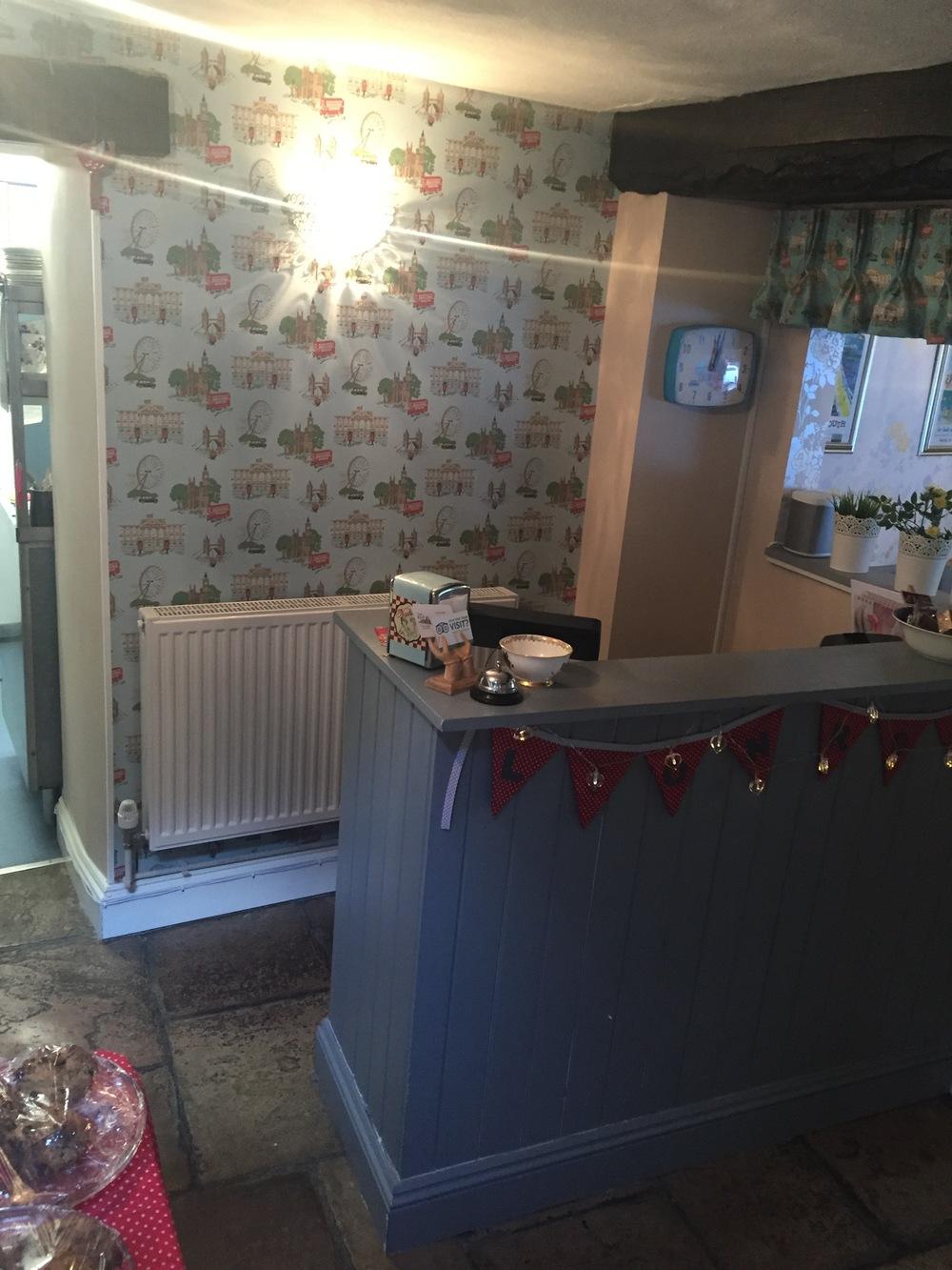 Cheddar Tea Rooms Decor: Cath Kidston Wallpaper