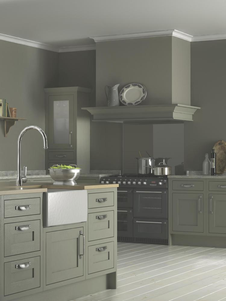 contemporary country kitchens framed units