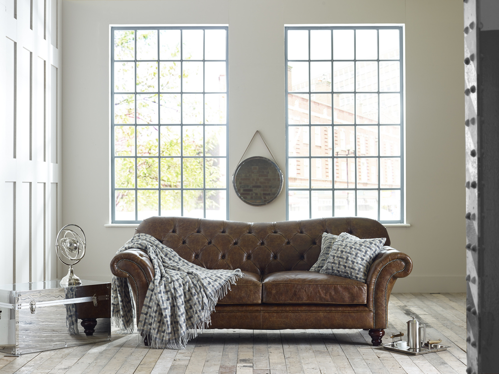 Leather Chesterfield Sofa Country Living Room
