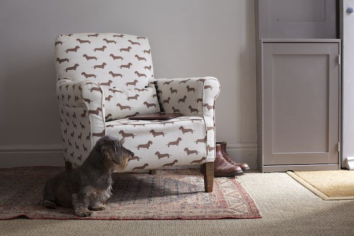 Emily Bond Dachshund Fabric Chair