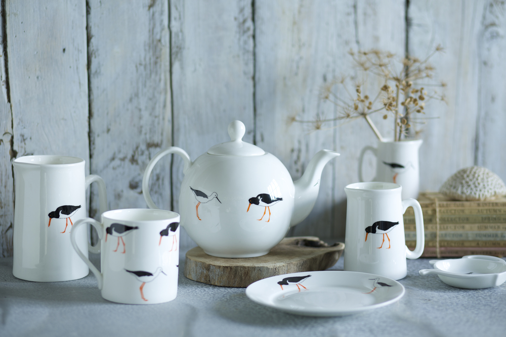 Emily Bond Stork Catchers China Tea Set