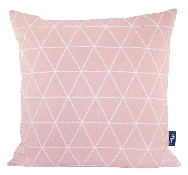 Dawanda Pink Geometric Cushion