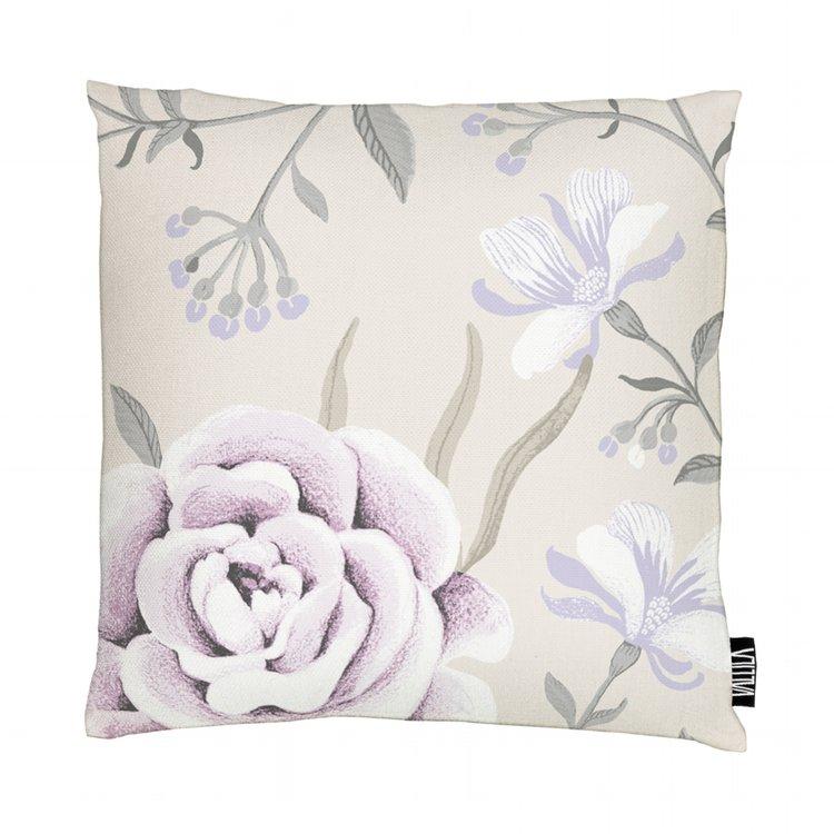 Vallila Charlotte Floral Cushion Beige