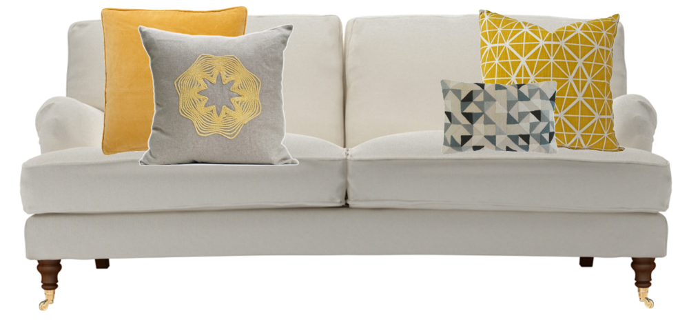 Asymmetric cushion arrangement
