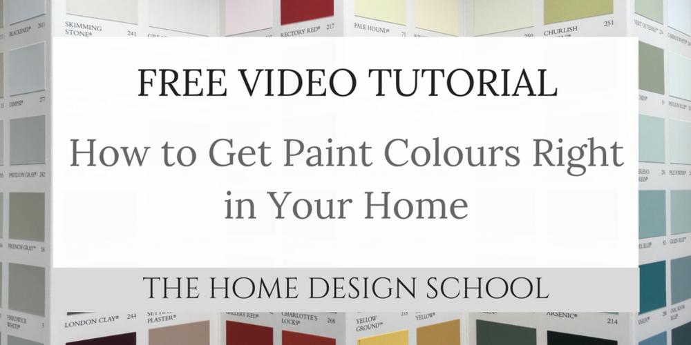 Paint Colour Tutorial