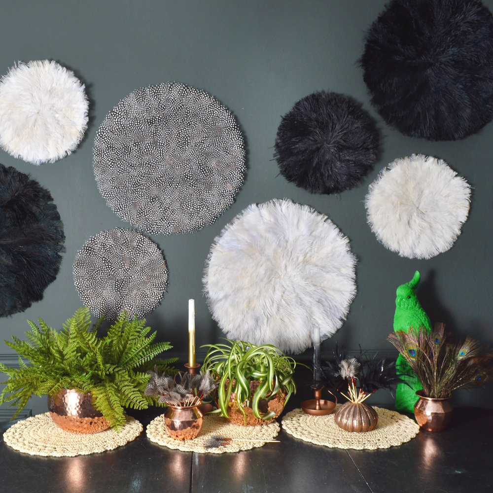 Feather wall hanging texture home