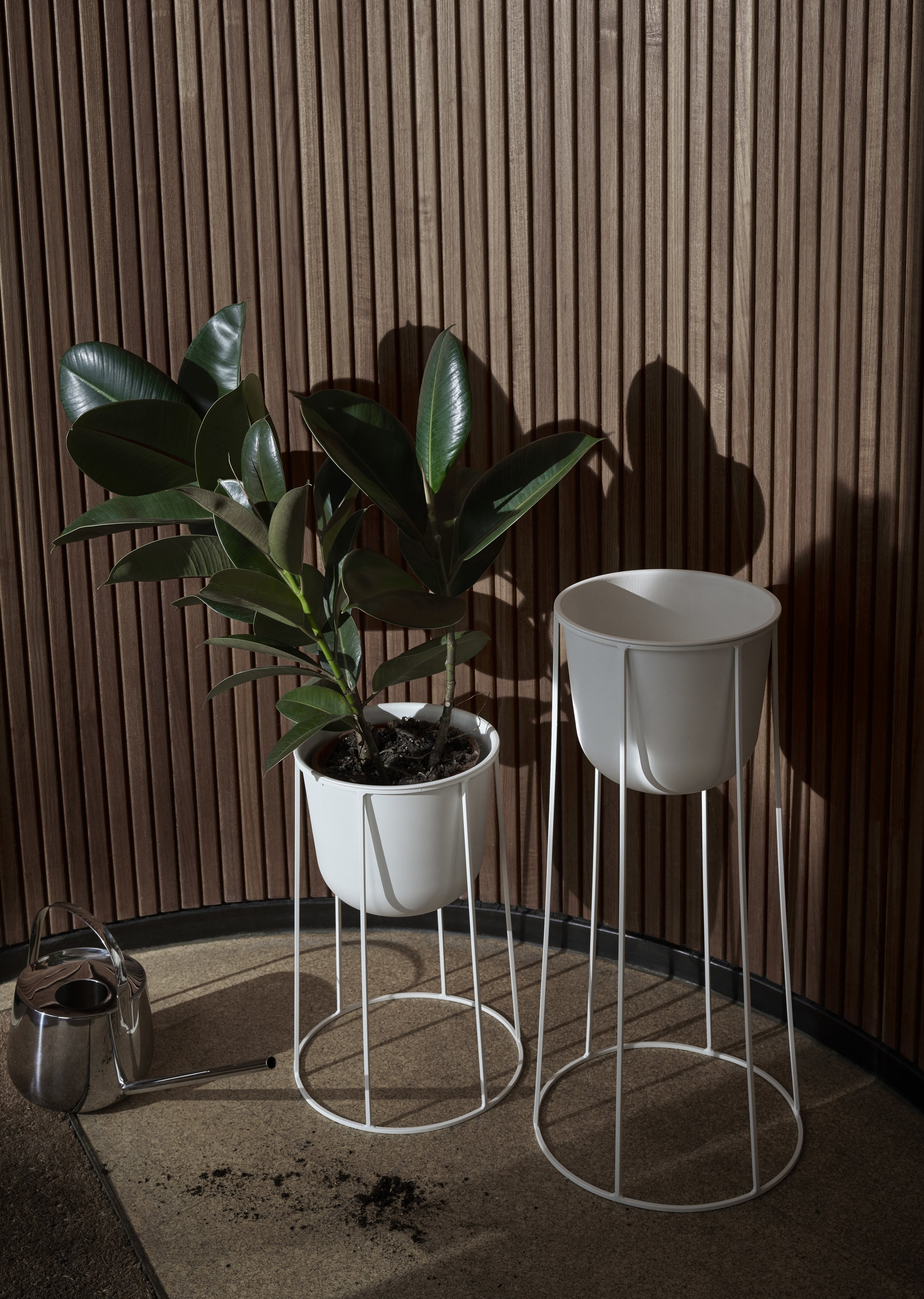 Floor Standing Planters by  Black by Design