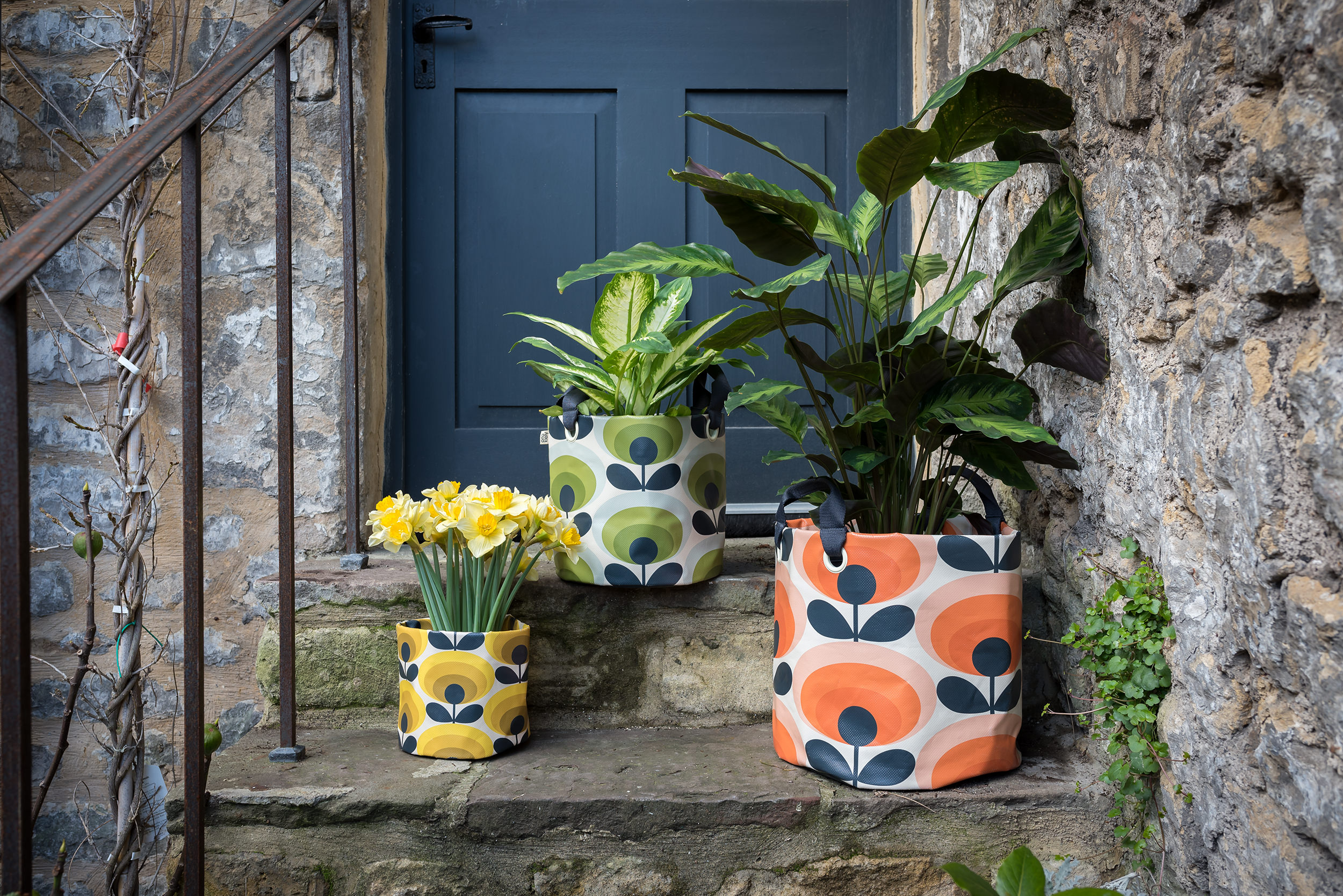 Orla Kiely Flower Print Bags from  Wild & Wolf