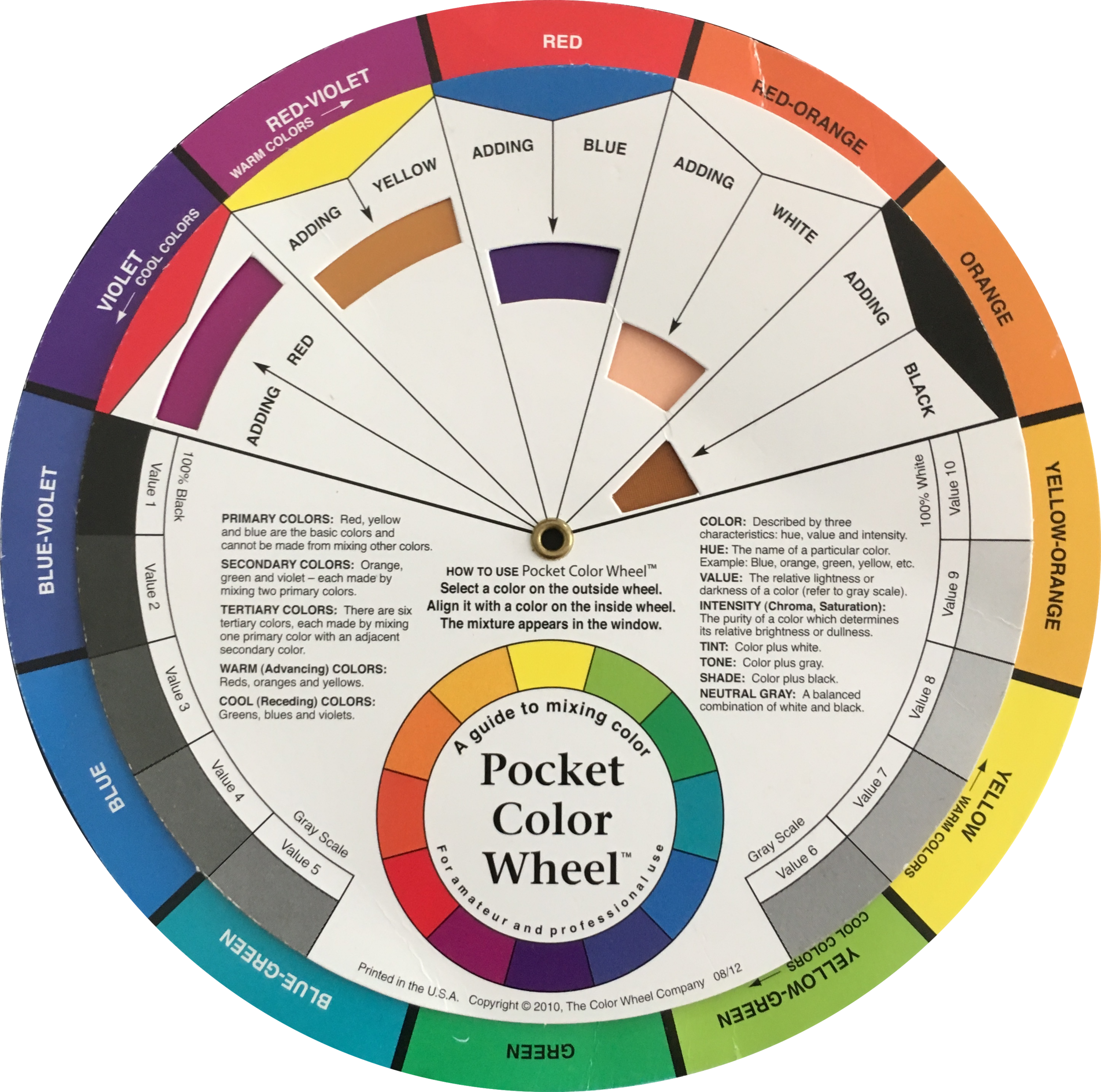 This colour wheel is from The Color Wheel Company, and is available on  Amazon.