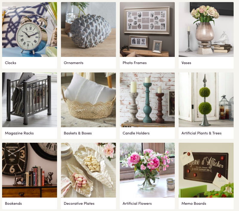 Wayfair have a wide selection of home decor accessories.