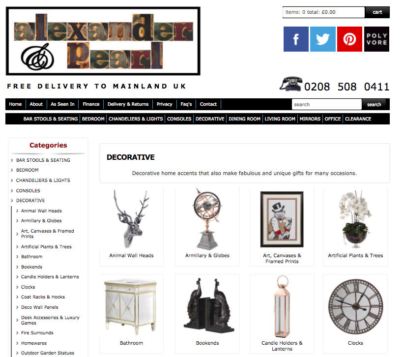 alexander and pearl home decor and accessories