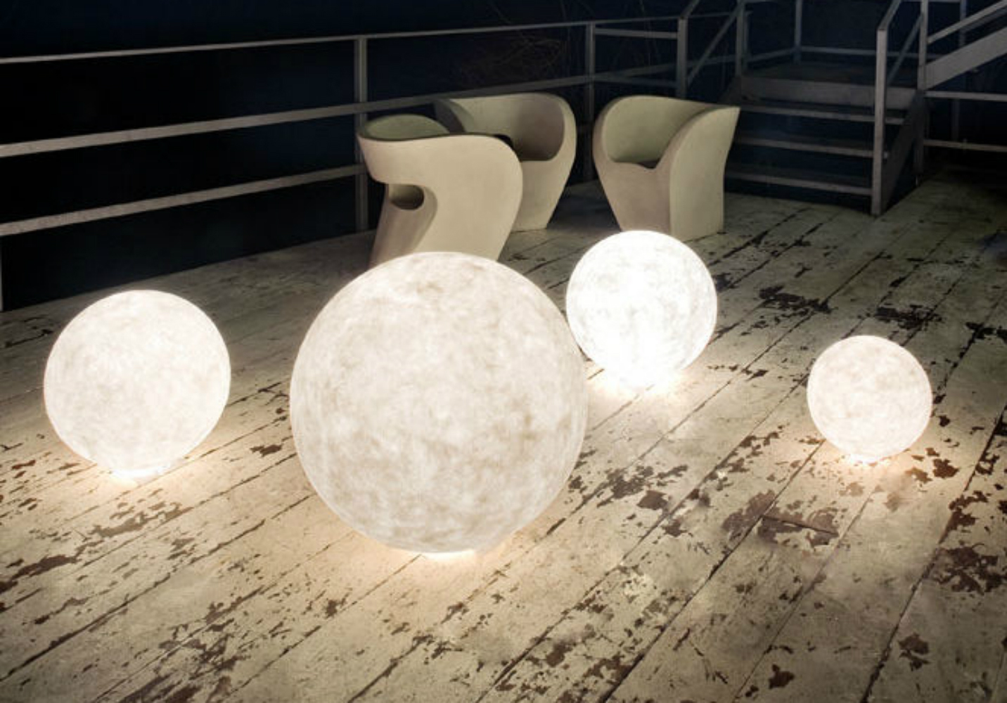 Luna Moon Outdoor Lights by  Babatude