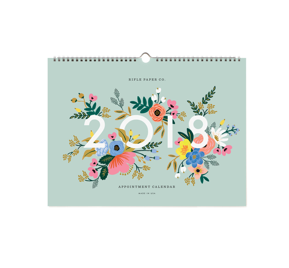 Floral Wall Calendar by Papermash