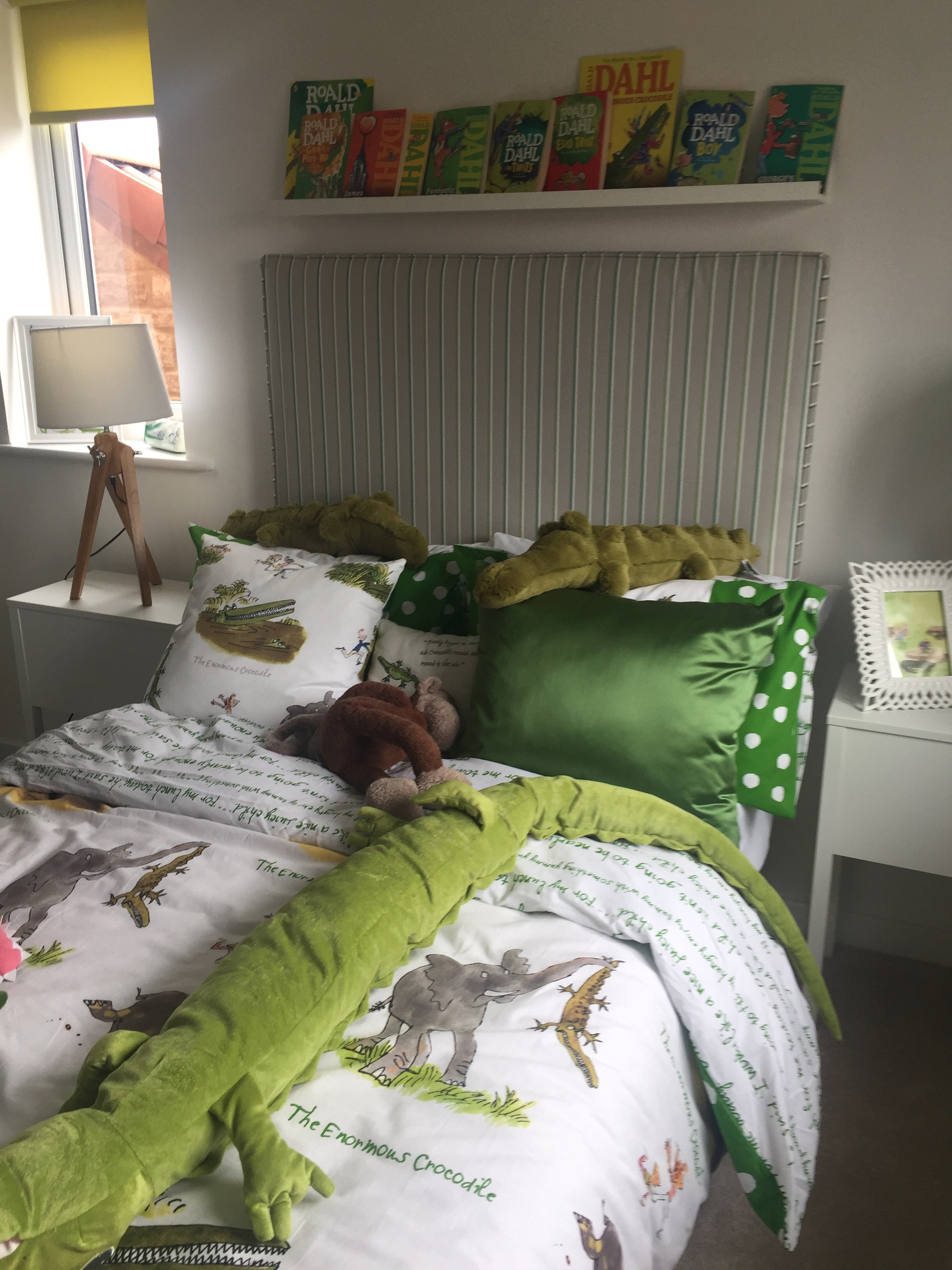 A Roald Dahl themed bedroom. Perfect for a child's room, but that's where it should stay!