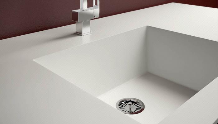Corian Worktop With Integrated Sink