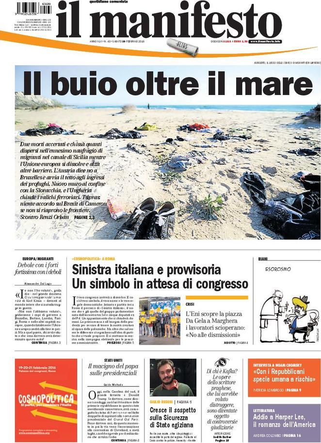 Il Manifesto —February 20, 2016
