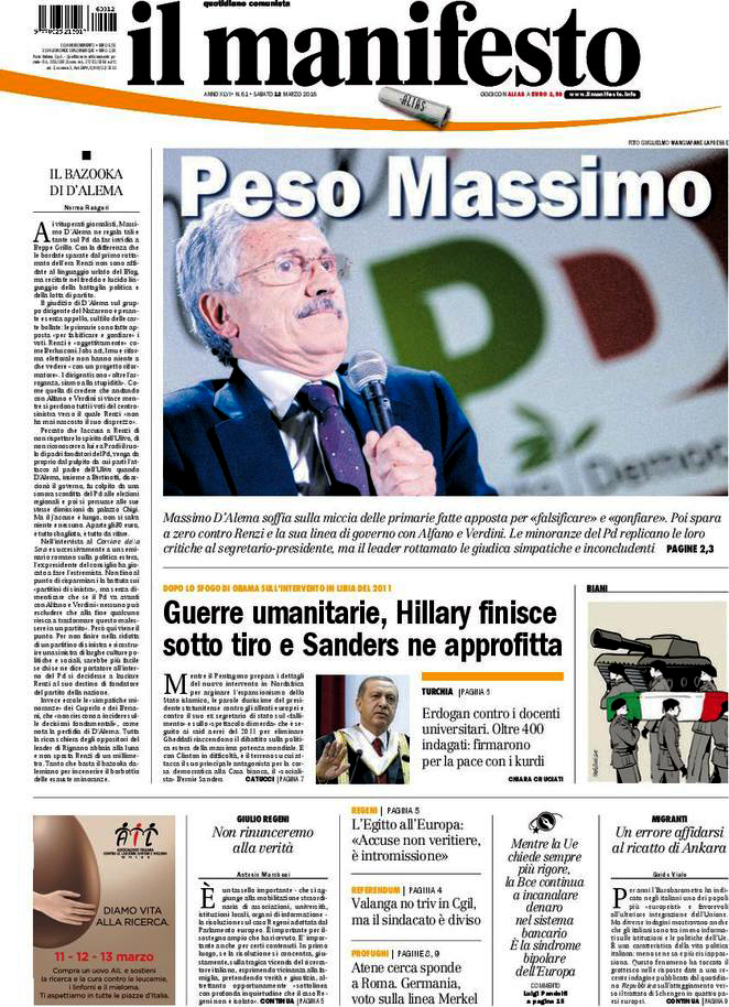 Il Manifesto — May 12,2016