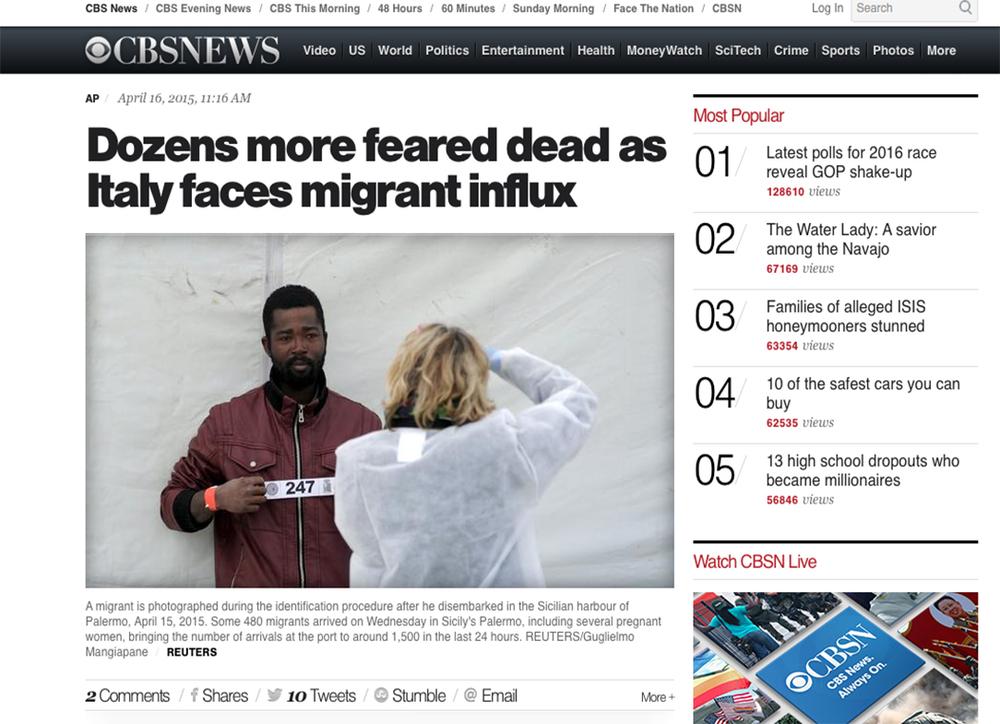Cbs News — April 16,2015