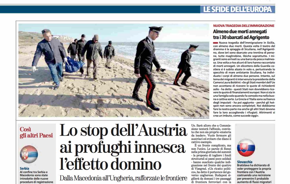 La Stampa — February 19, 2016
