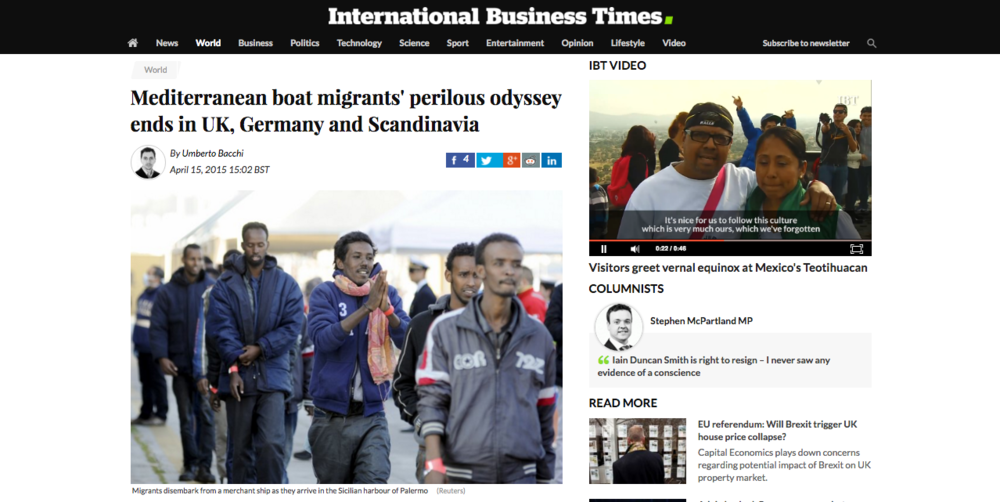 International Business Times — August 15, 2015