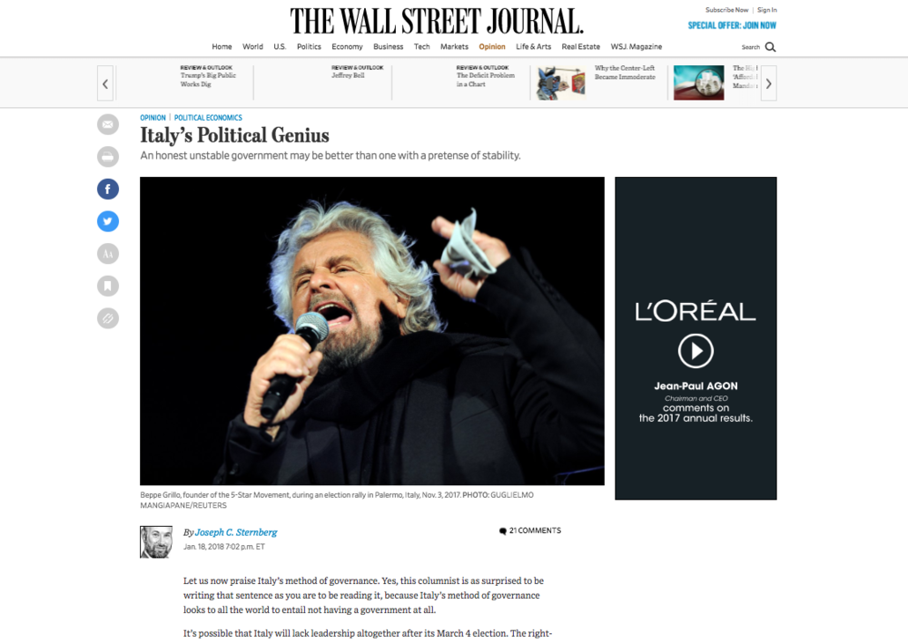 The Wall Street Journal — January 18, 2018