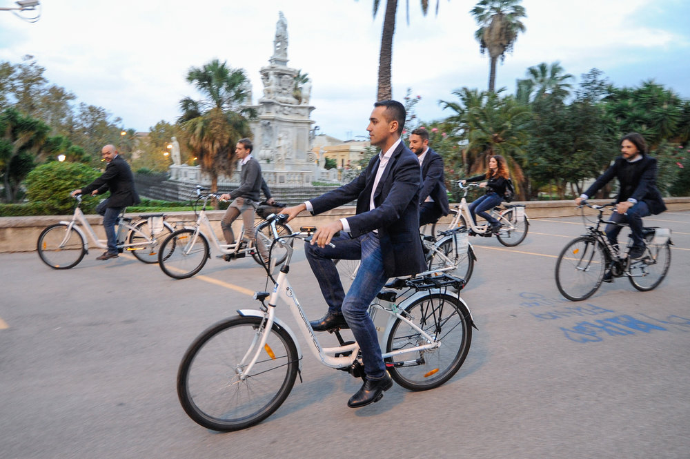 Luigi Di Maio of 5-Star Movement leaves after a press conference ahead the vote for the regional election in Palermo, Italy, November 3, 2017.