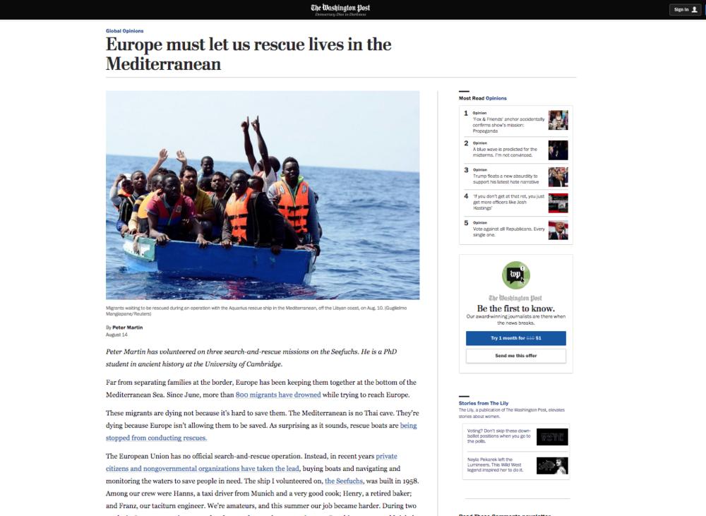 The Washington Post — August 14, 2018