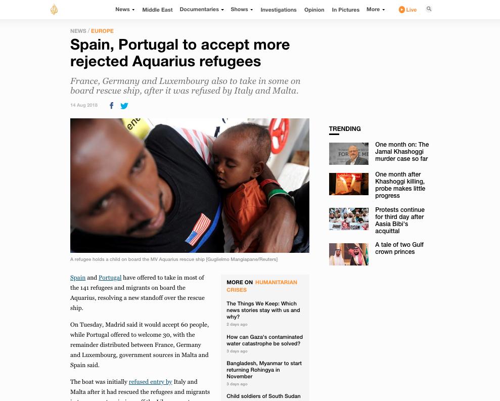 Al Jazeera — August 14, 2018