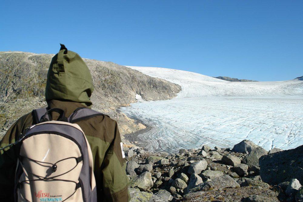 Utsikt mot Marabreen Jostedalsbreen