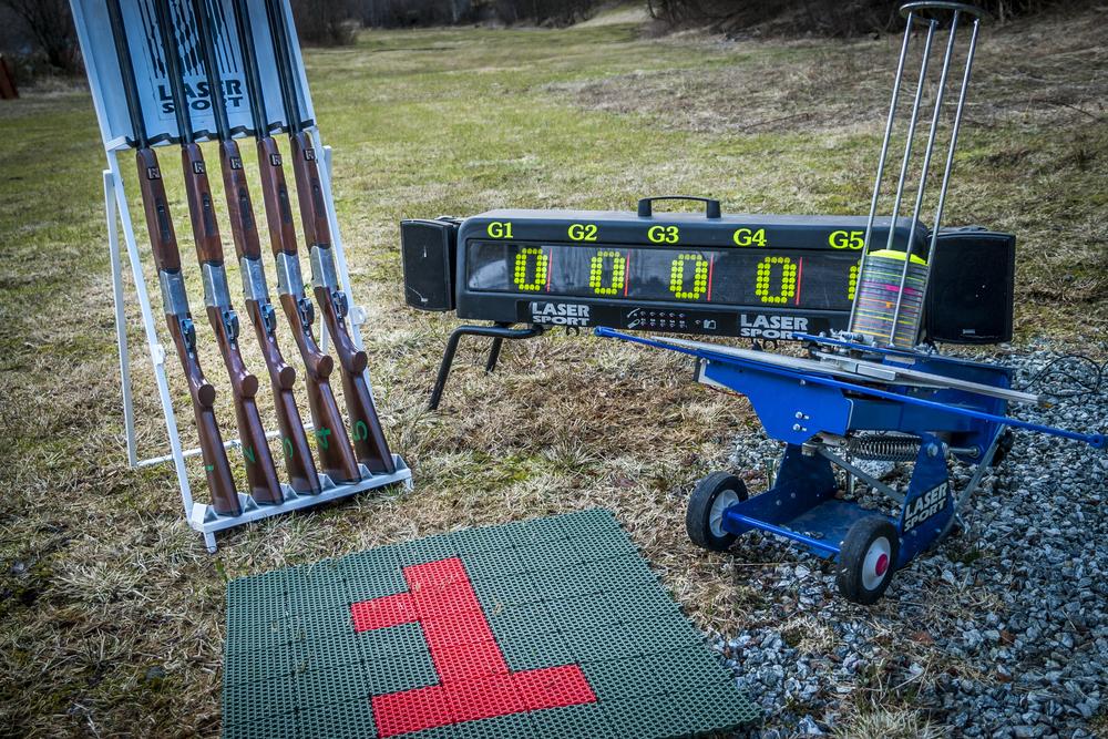Utstyr til lasersport skyting
