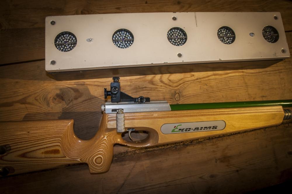 Eko Aims våpen med skiskyttarblink