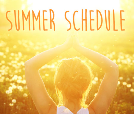 Summer schedule at Everyday Yoga with Naomi Hayama