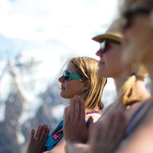 Chamonix Mont Blanc France Yoga retreat at Bristol Yoga Centre