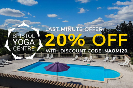 10% off discount for yoga retreat in South West of France with Bristol Yoga Centre