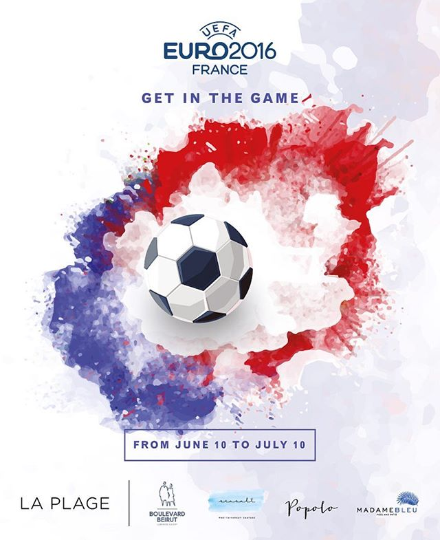 Waves, food and a @uefaeuro mood, starting tomorrow June 10 at La Plage! For info: 01366222 #popolobeirut #madamebleubeirut #boulevardbeirut #seasaltbeirut #laplagebeirut #addmindgroup