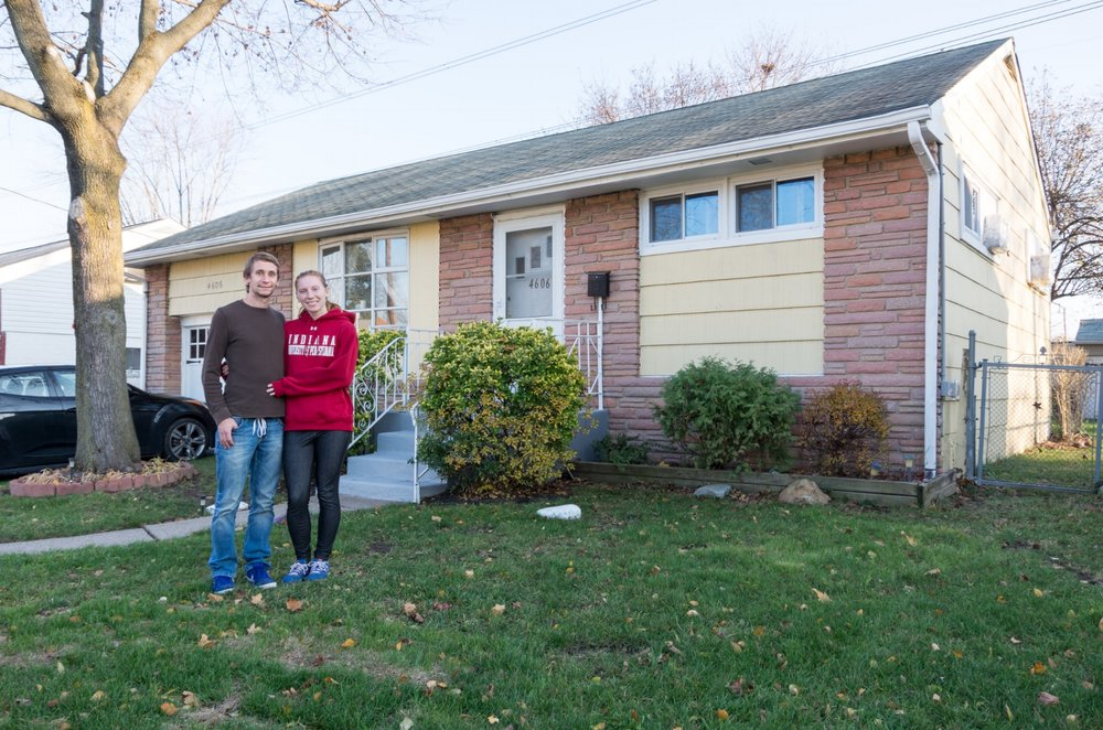 Andrew and I when we bought our first house.