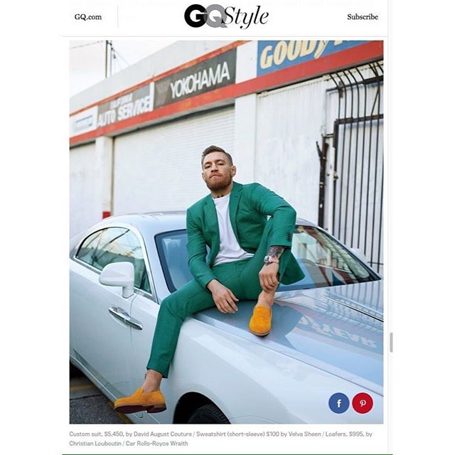 Thanks @gqstyle for putting badass @thenotoriousmma in our @velvasheen sweatshirt buy it now at @virgilnormal