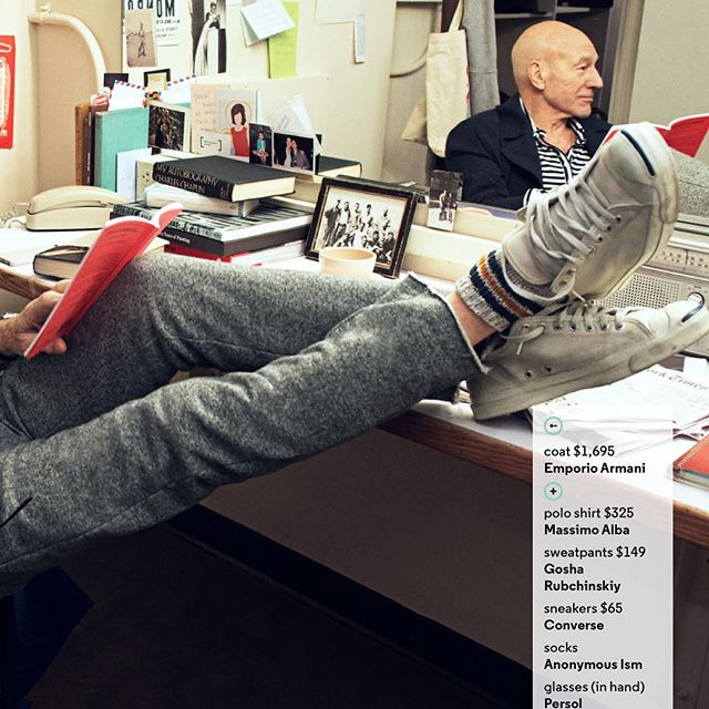 @sirpatstew looking relaxed and stylish in #ss17 #anonymousism in @gq !