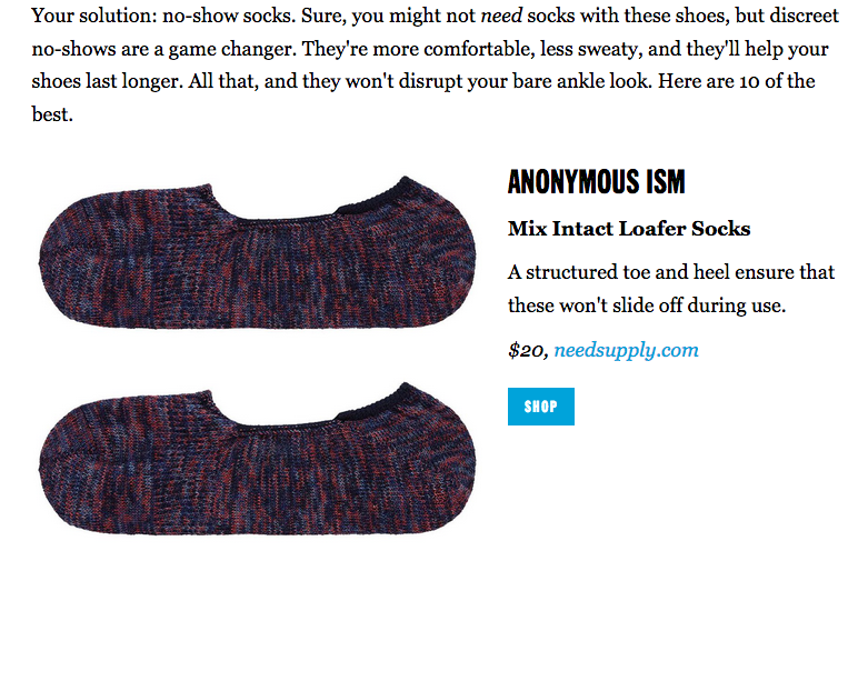 Anonymous Ism socks on Esquire https://www.esquire.com/style/mens-fashion/g3355/no-show-socks/