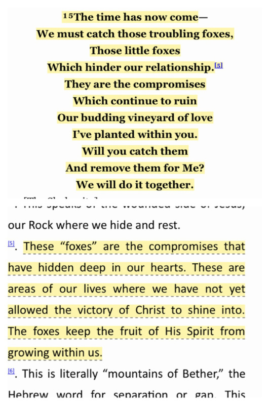 From Song of Songs 2:15, The Passion Translation.