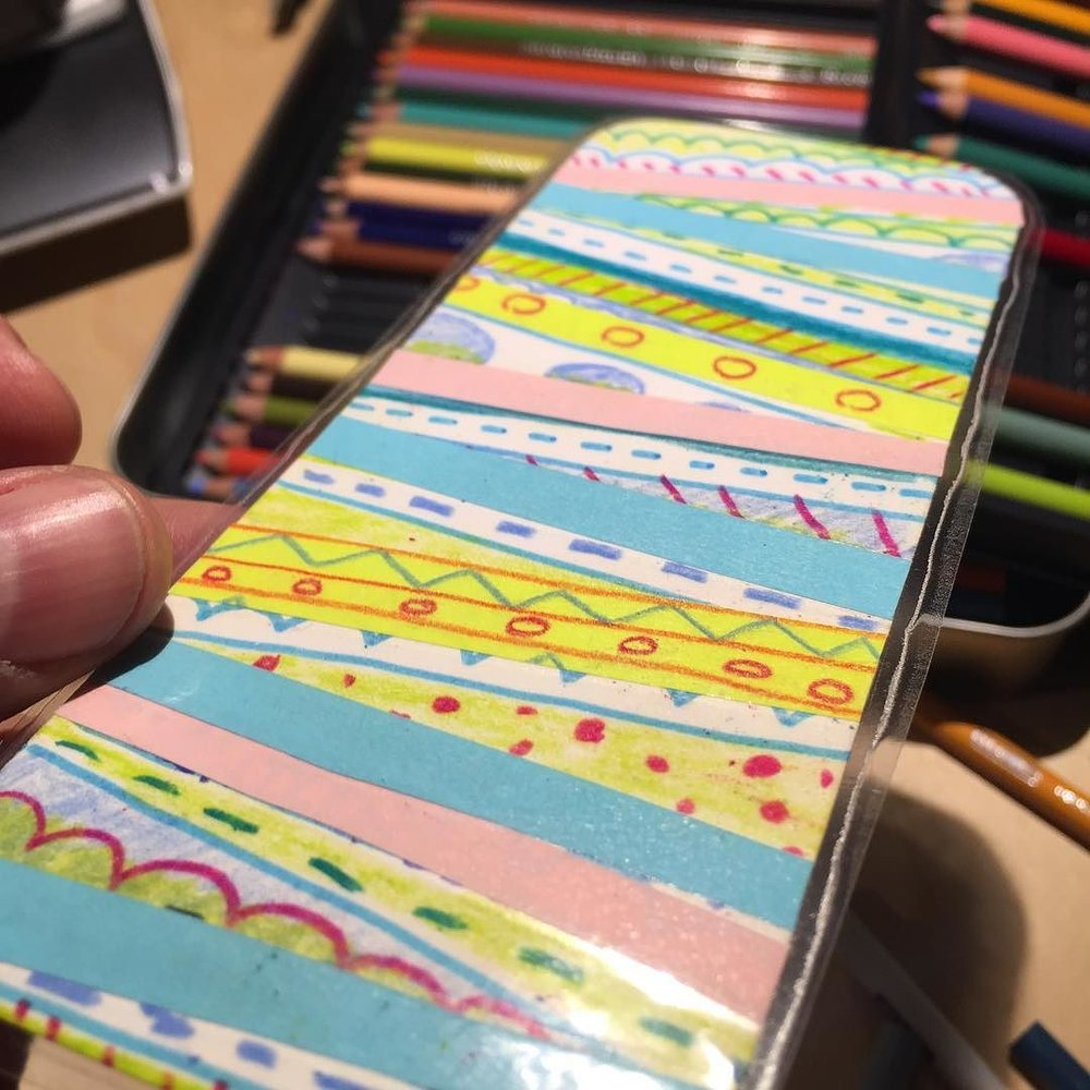 Strips and ribbons of Post-It Notes