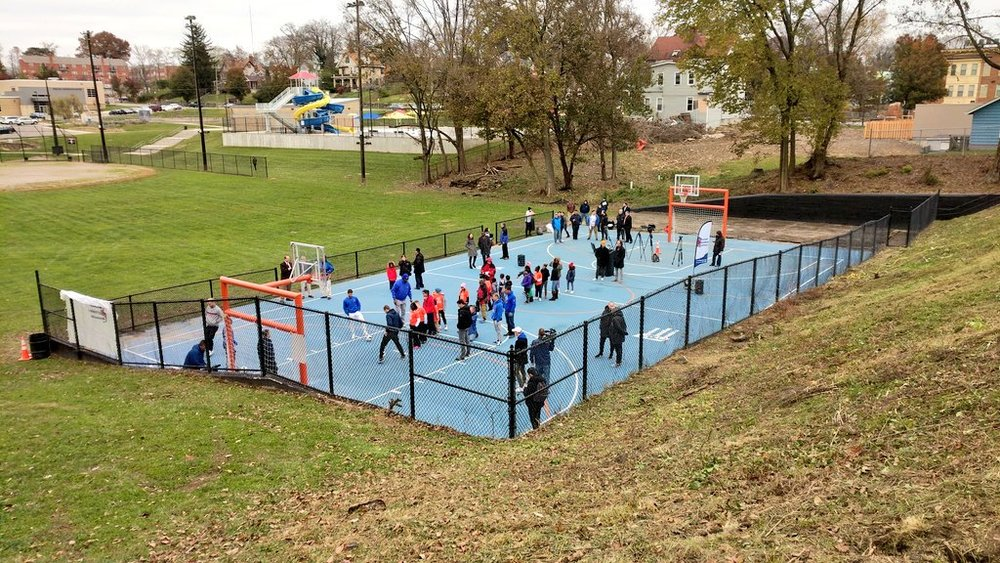 Futsal courts like these are important in bringing the world's game to every neighborhood in Cincinnati