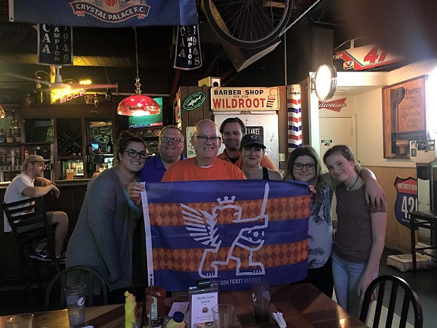 Cheering for FCC at Lynagh's Irish Pub