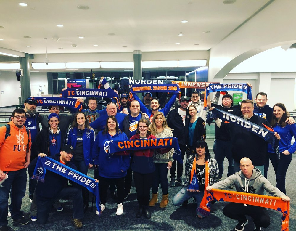 FCC fans represented in force on the road across the country.