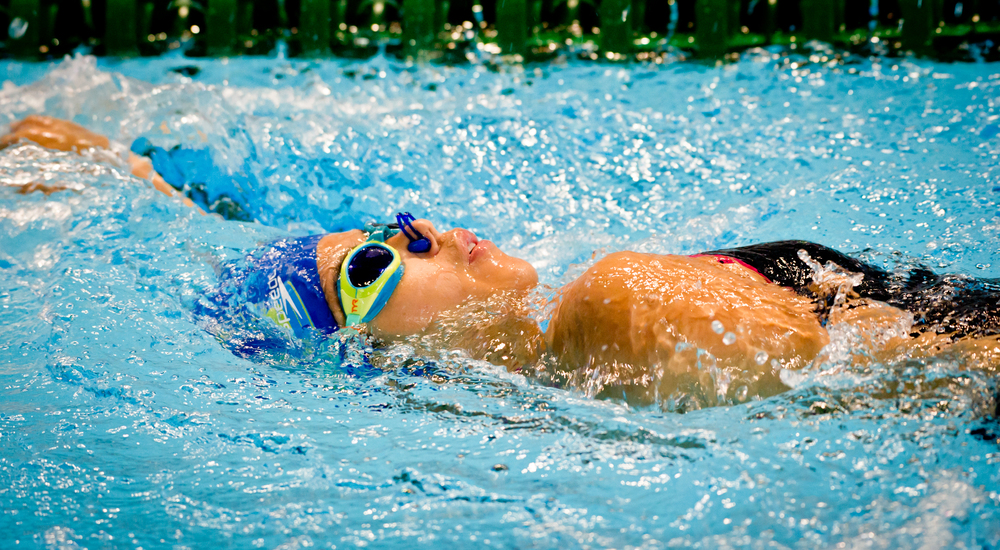 A para-swimmer en route to a world record during the ASEAN Para Games at the OCBC Aquatic Centre.