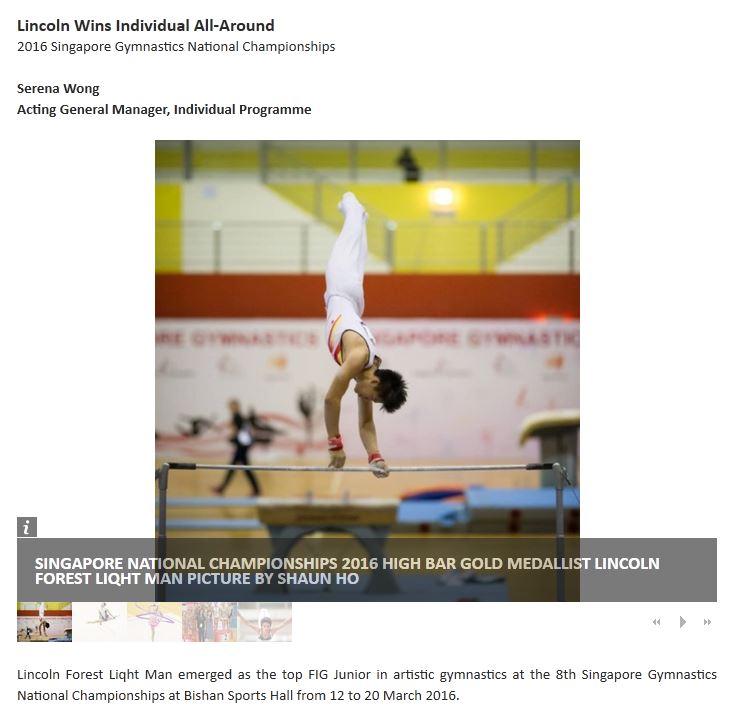 Singapore Sports School E News!
